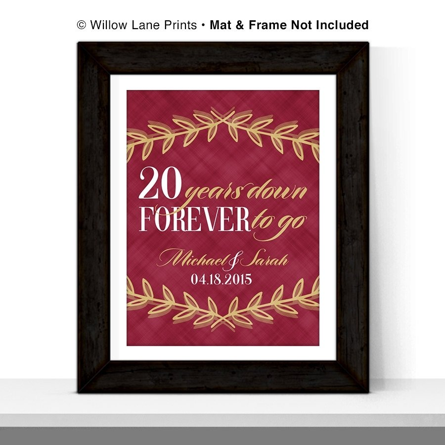 10 Fantastic 20Th Anniversary Gift Ideas For Wife wedding gift awesome twentieth wedding anniversary gifts picture 2020