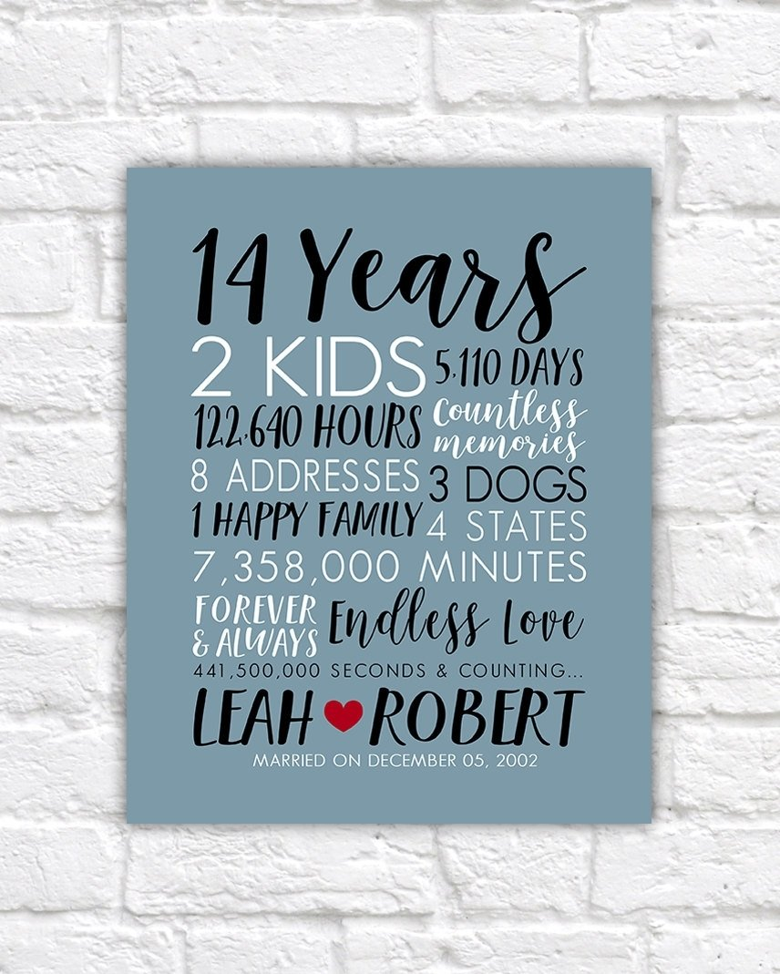 10 Awesome 14 Year Anniversary Gift Ideas wedding gift fresh wedding anniversary giftsyear idea 2018 2020