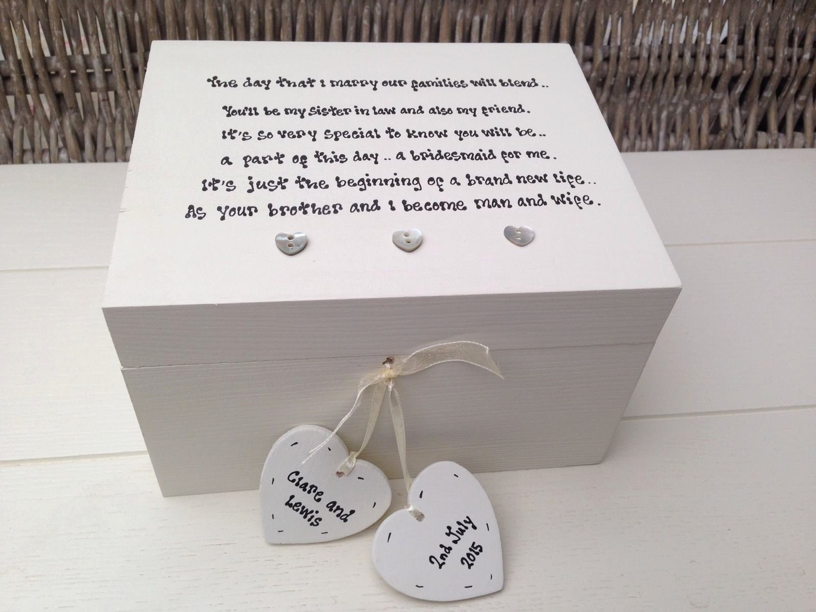 10 Trendy Gift Idea For Sister In Law wedding gifts for sister unique personalised chic bridesmaid sister