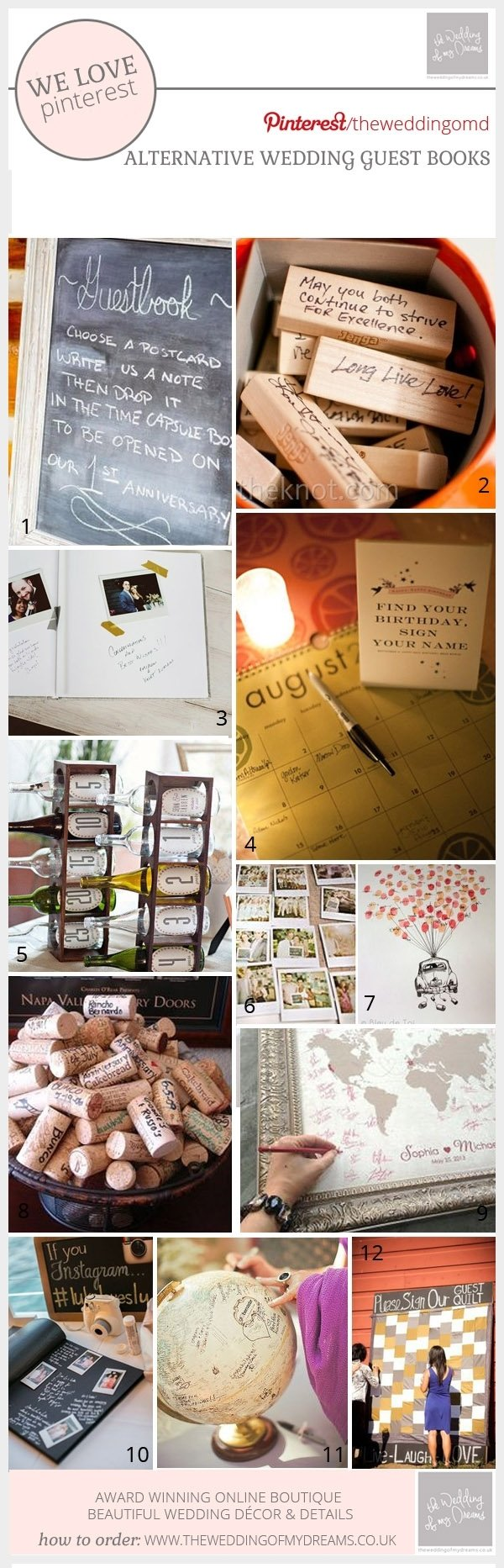 10 Most Recommended Alternative Wedding Guest Book Ideas wedding guest book ideas