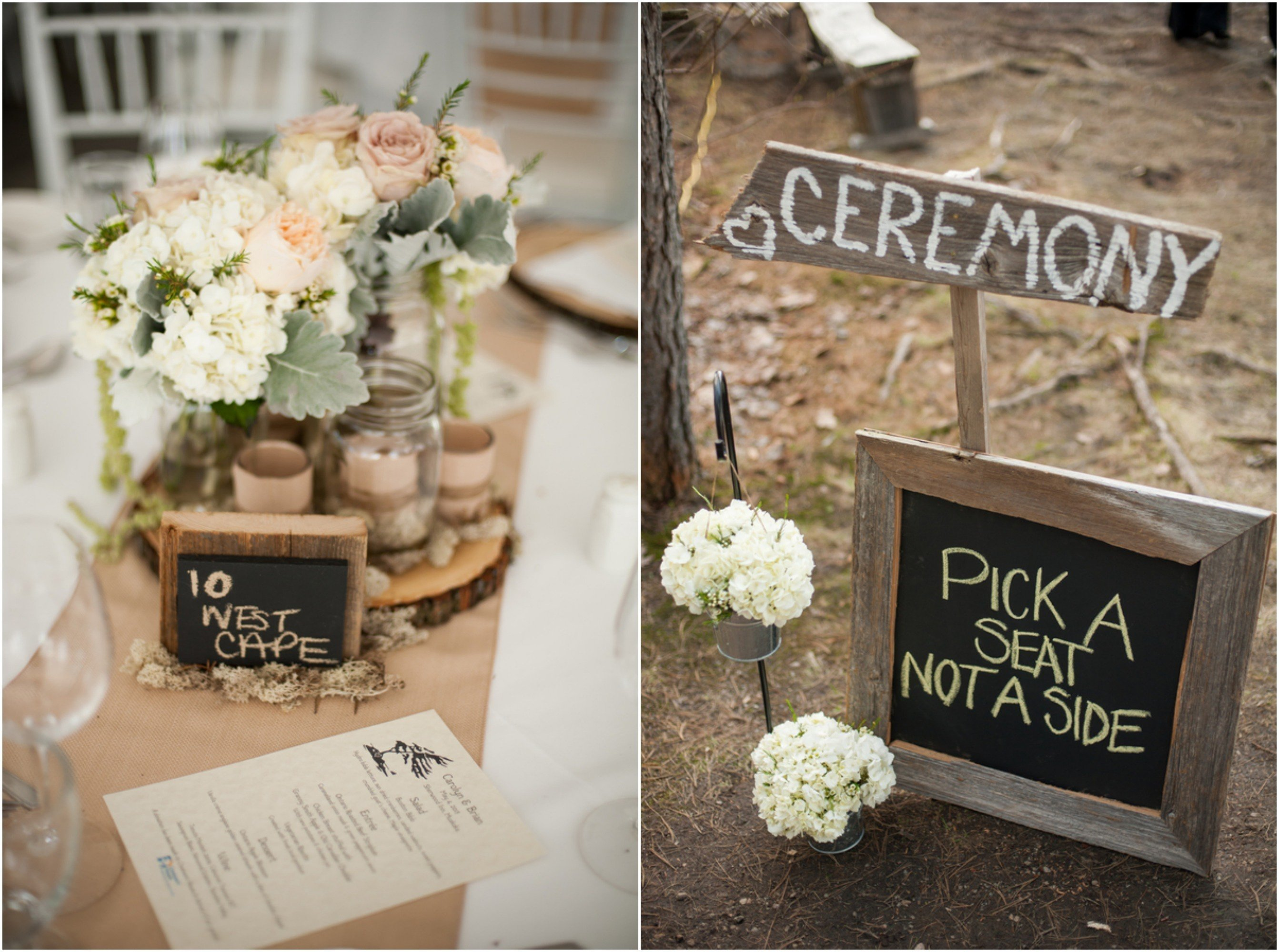 wedding ideas : cheap rustic wedding decor. wedding table