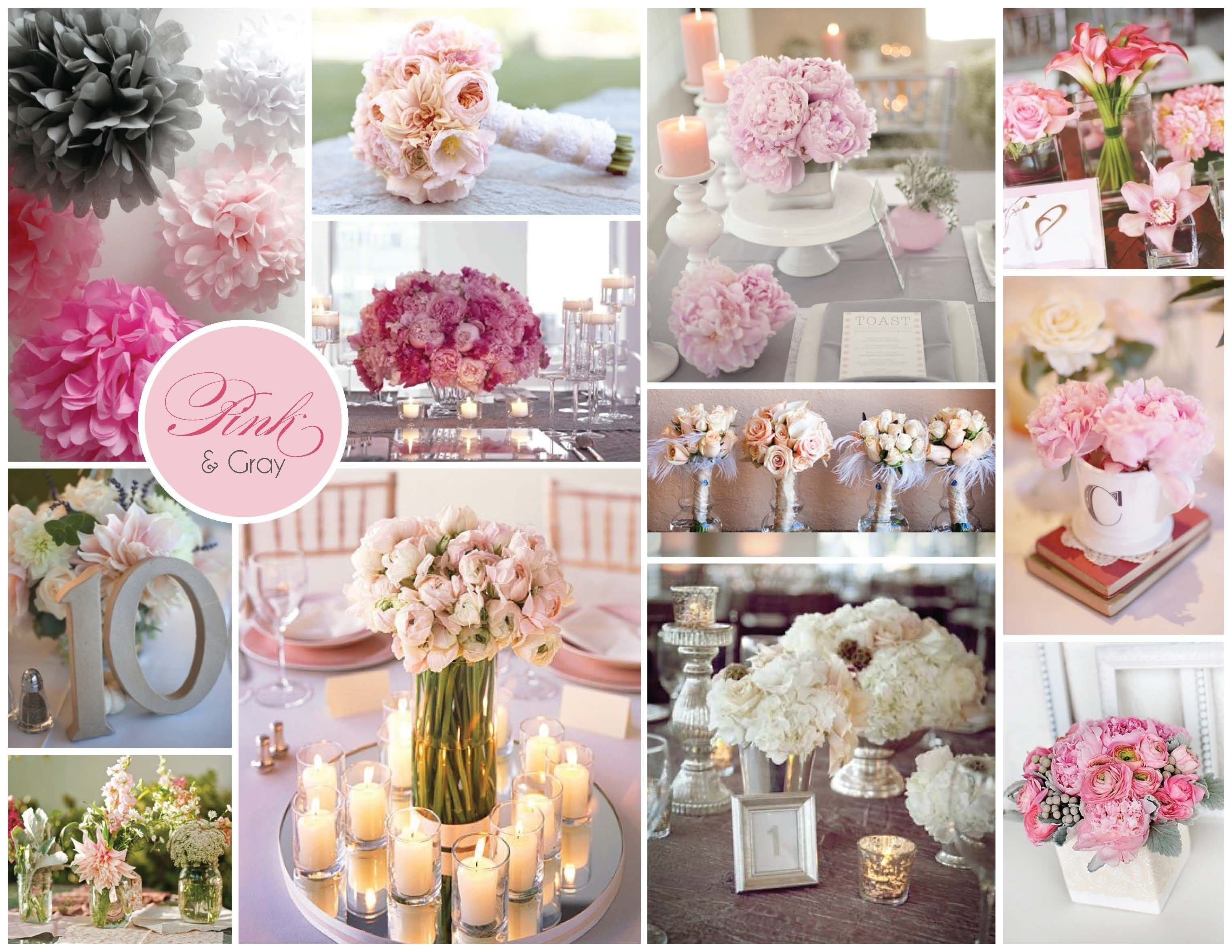 wedding ideas: pink and grey wedding ideas - i like the grey table