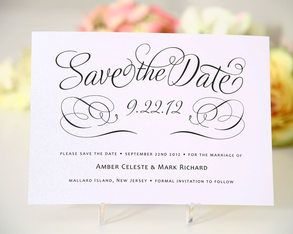 10 Attractive Save The Date Card Ideas wedding invitations and save the dates sansalvaje 1