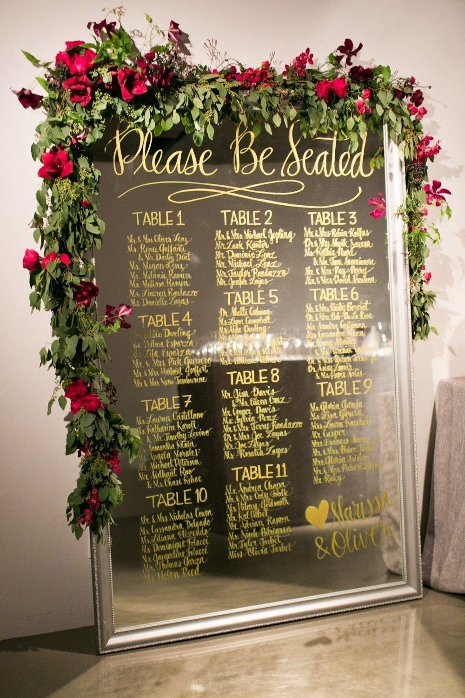 10 Wonderful Wedding Reception Seating Chart Ideas wedding mirror seating chart ideas vintage wedding ideas 2020