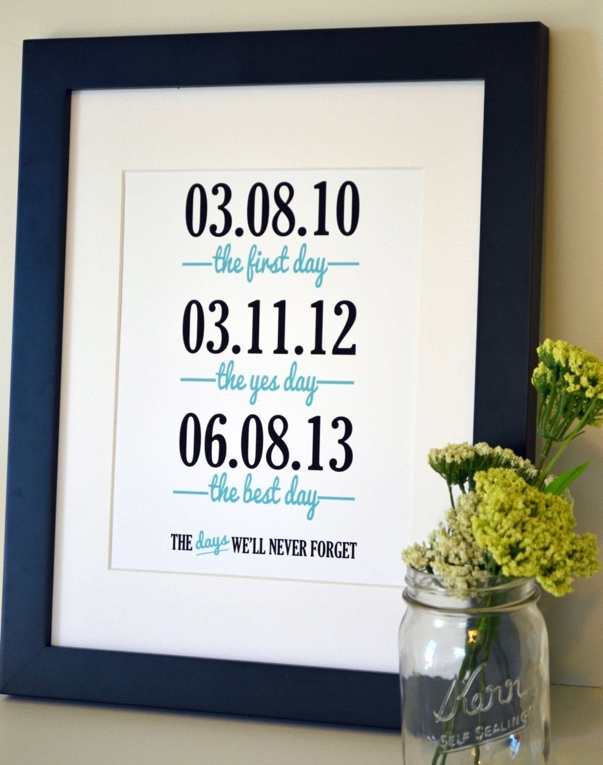 10 Trendy One Year Anniversary Ideas For Wife wedding sign print 11x14 the first day the yes day anniversary gift 2021