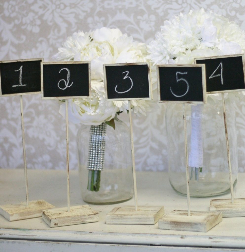10 Fabulous Table Number Ideas For Wedding wedding tables cool wedding table number ideas creative wedding 1