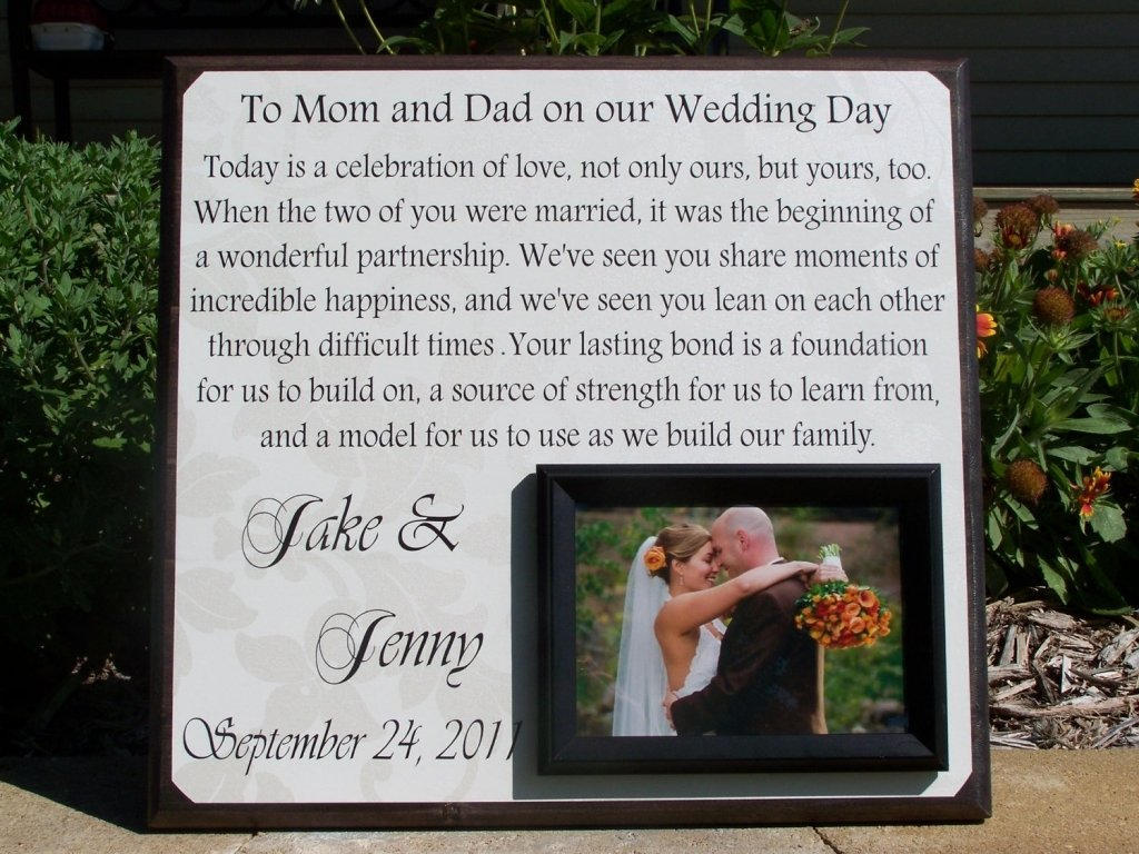 wedding thank you gift ideas for parents - romantic wedding