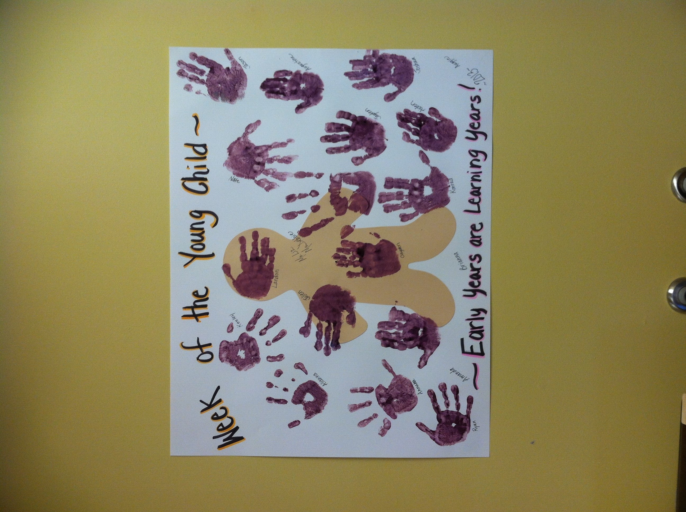 10 Lovely Week Of The Young Child Ideas week of the young child poster madethe children i printed the
