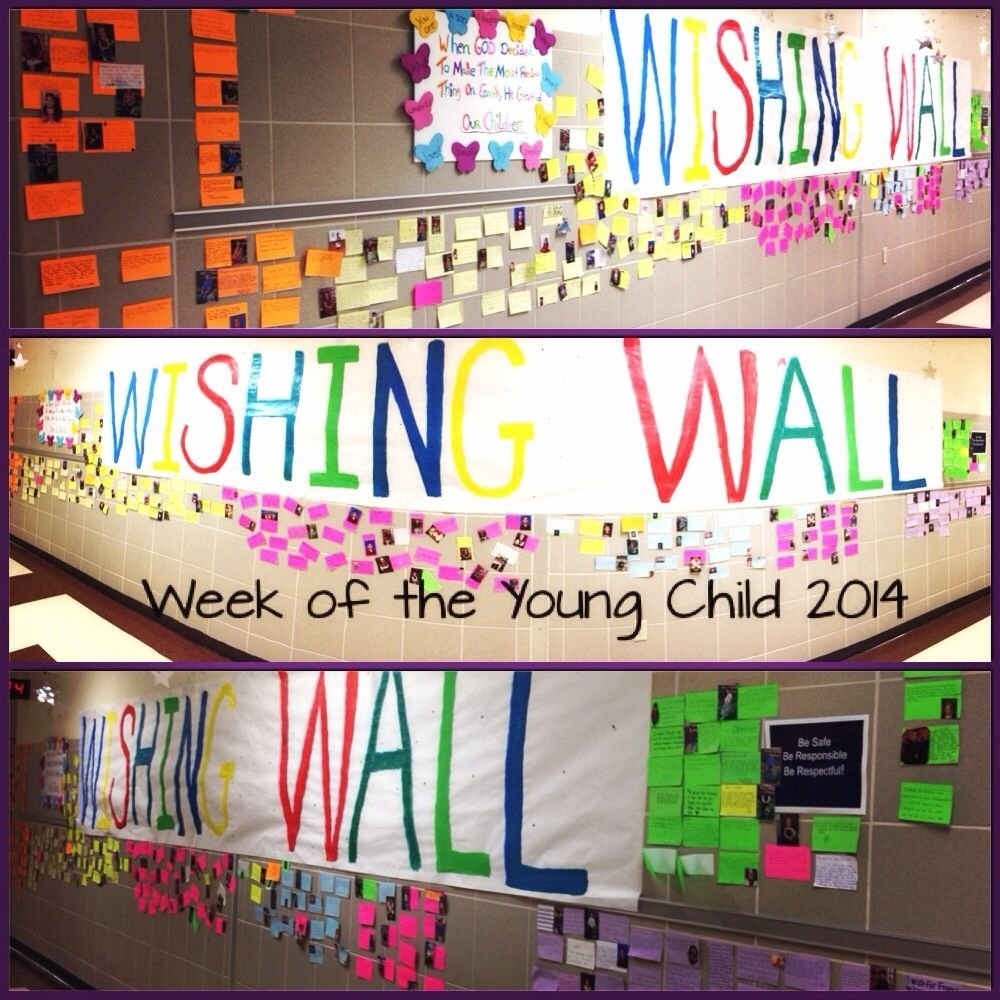 10 Lovely Week Of The Young Child Ideas week of the young child wishing wall parents wrote their wishes