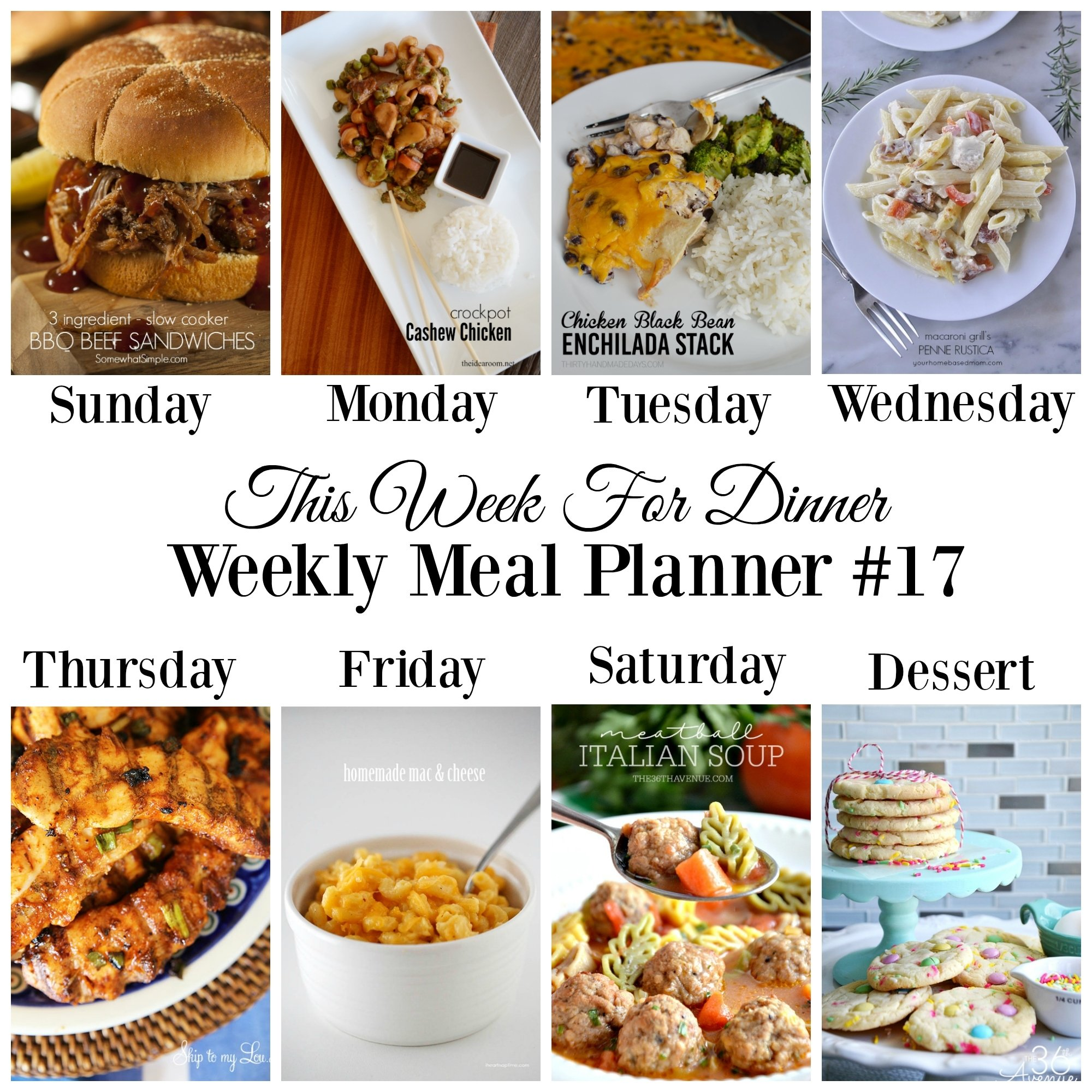 10 Most Recommended Take Out Ideas For Dinner weekly meal planner 17 skip to my lou 2020