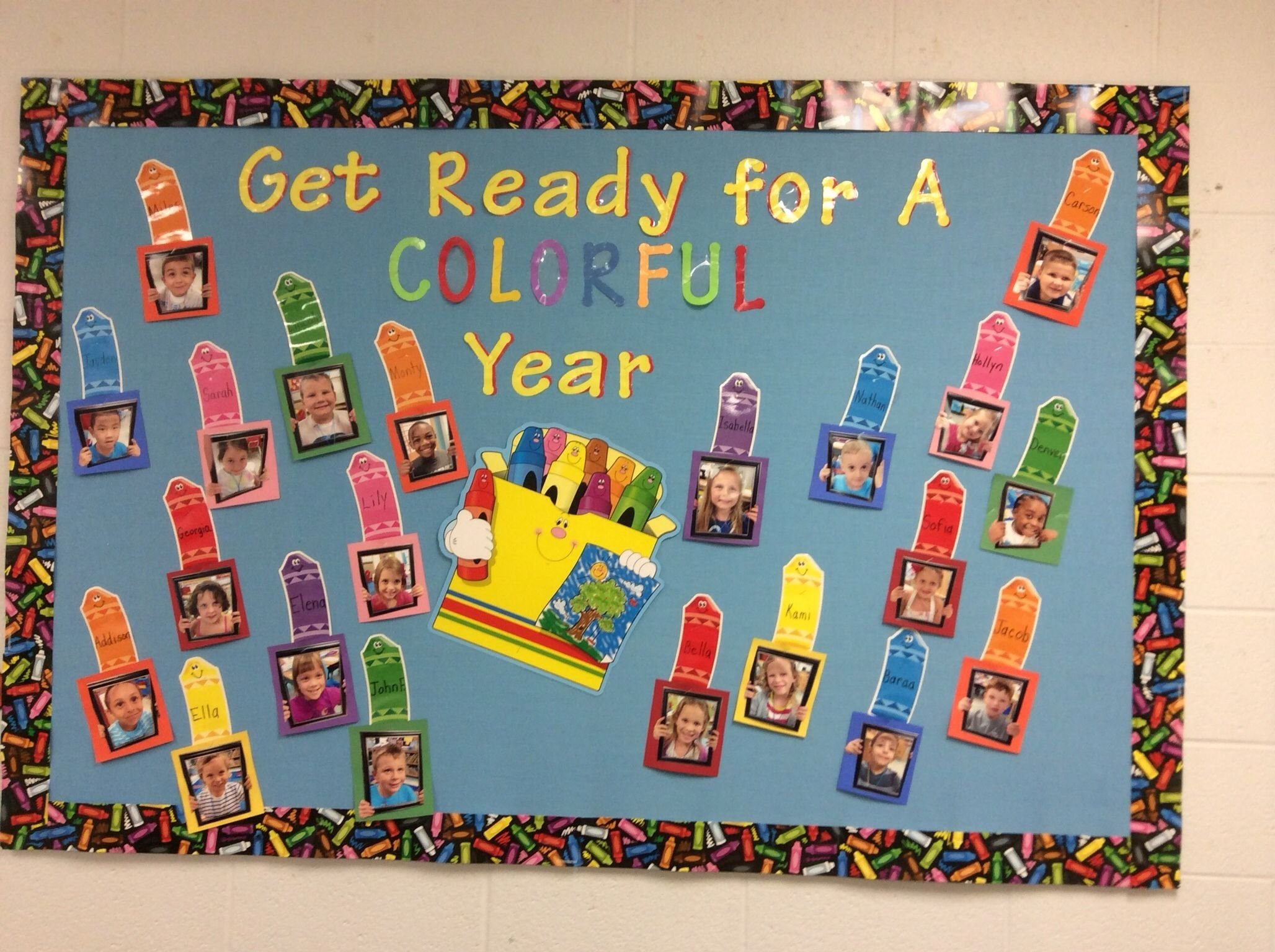 10 Most Recommended Beginning Of School Year Bulletin Board Ideas welcome to a colorful year bulletin board with first day of 2020