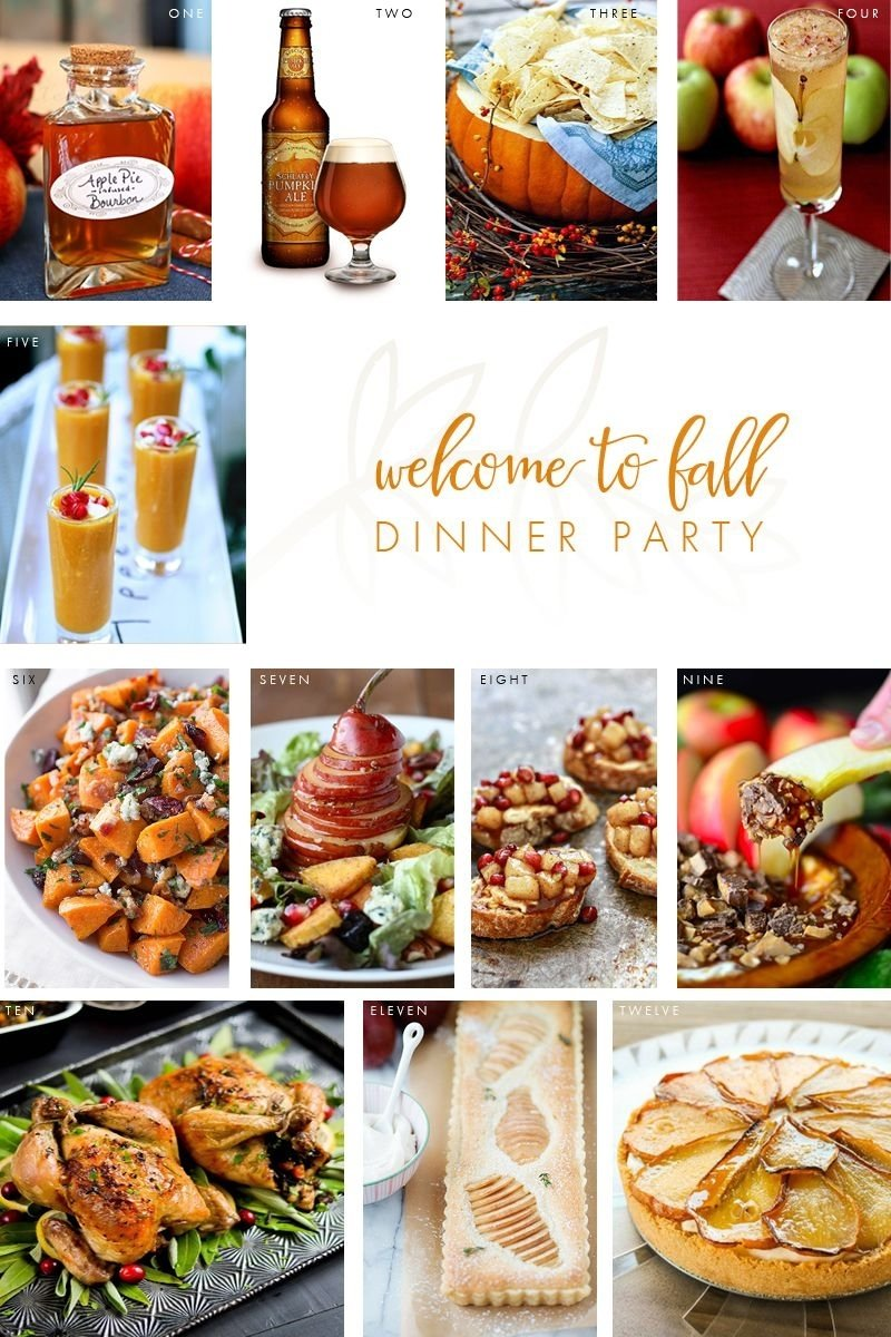 welcome to fall dinner party: the perfect menu | dinner party menu
