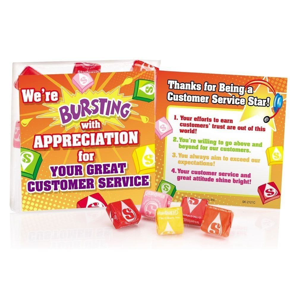10 Nice Ideas For Customer Service Week were bursting with appreciation for your customer service starburst 1 2020