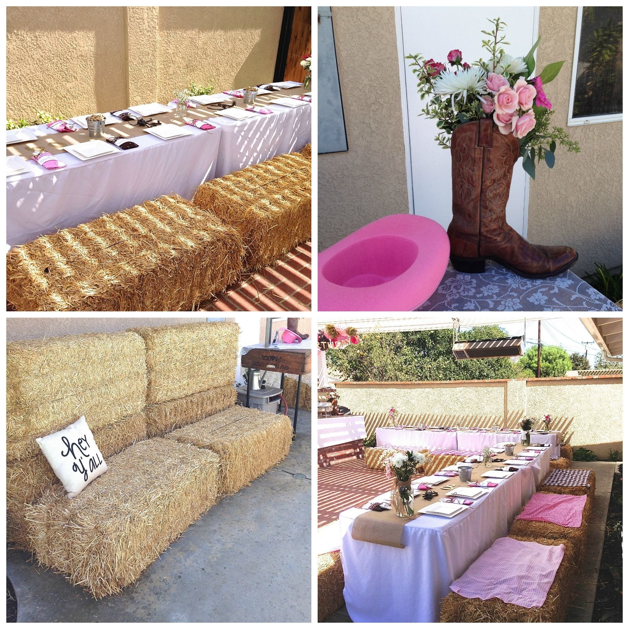 10 Attractive Western Party Ideas For Adults western birthday adult western party hay bales flower boot