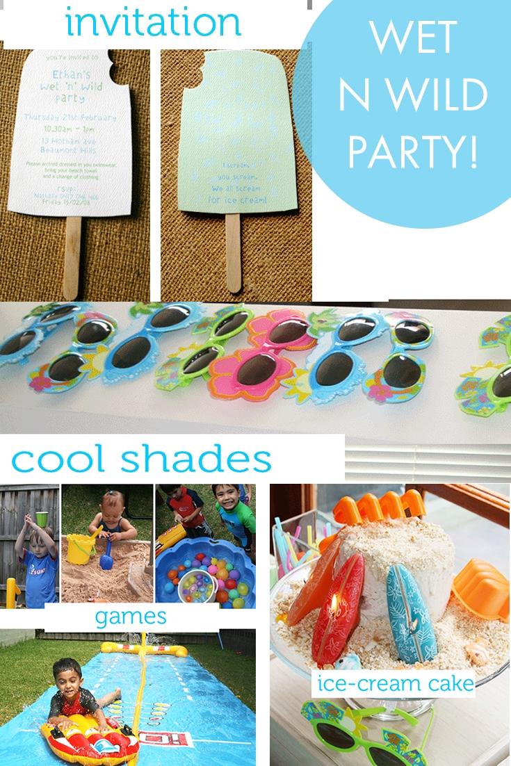 wet-n-wild children's summer birthday party