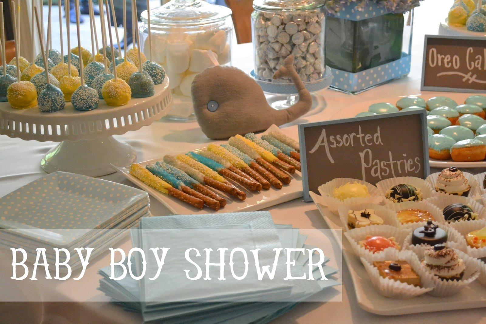10 Stunning Baby Shower Food Ideas For Boy whale baby boy shower ideas 2 2020