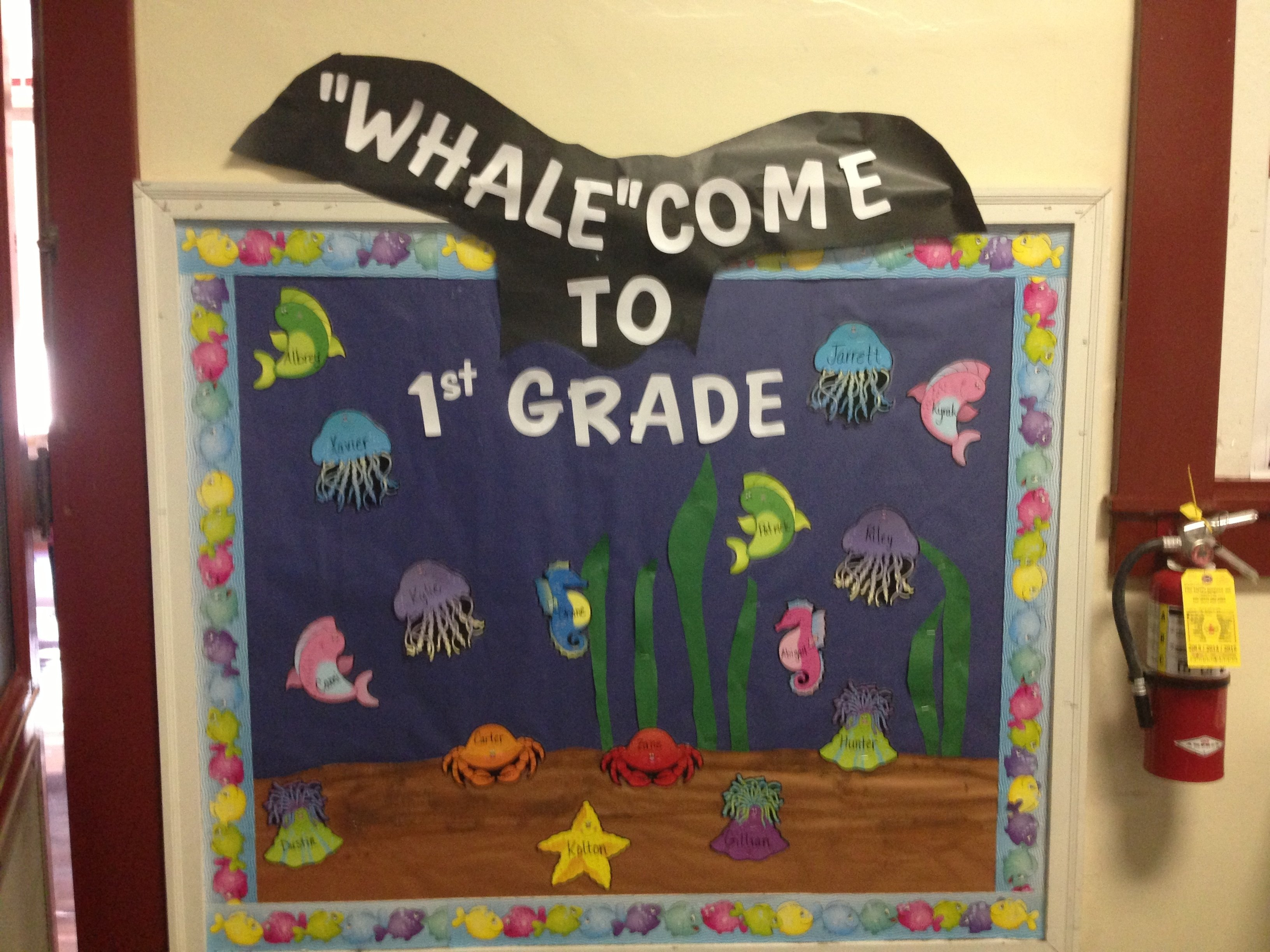 10 Famous Back To School Bulletin Board Ideas Pinterest whalecome to first grade back to school ocean theme beginning 1 2020