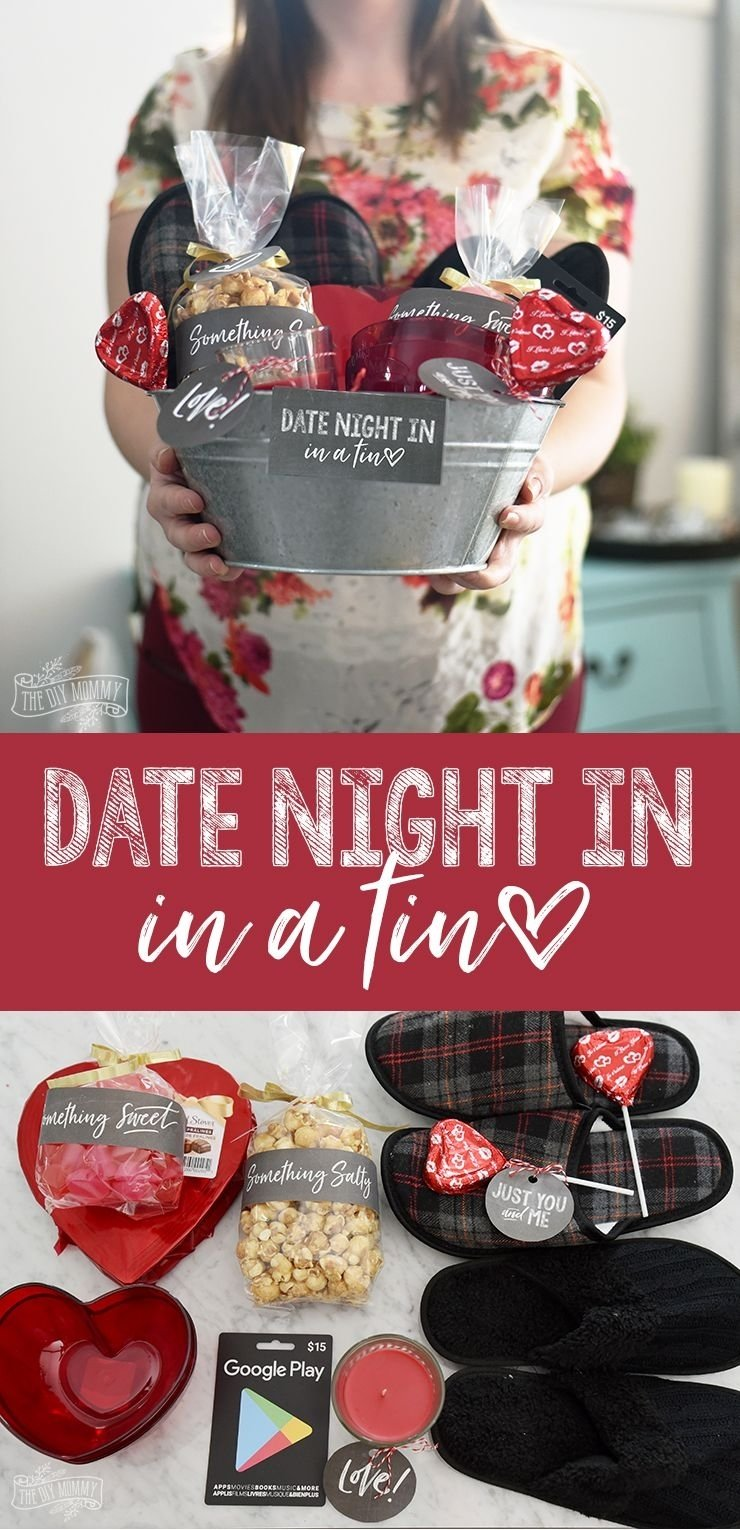 10 Fashionable Valentine Date Ideas For Him what a sweet idea a gift basket with things for a date night in for 2 2020