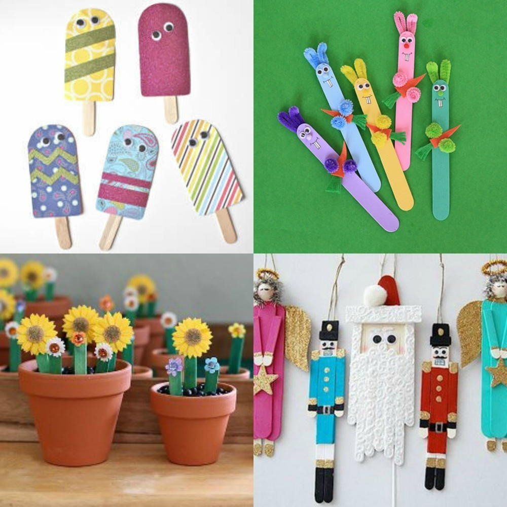 what to make with popsicle sticks: 50+ fun crafts for kids | 50th