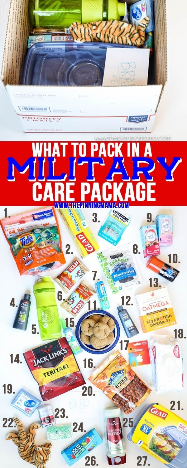 what to pack in a military care package • the pinning mama