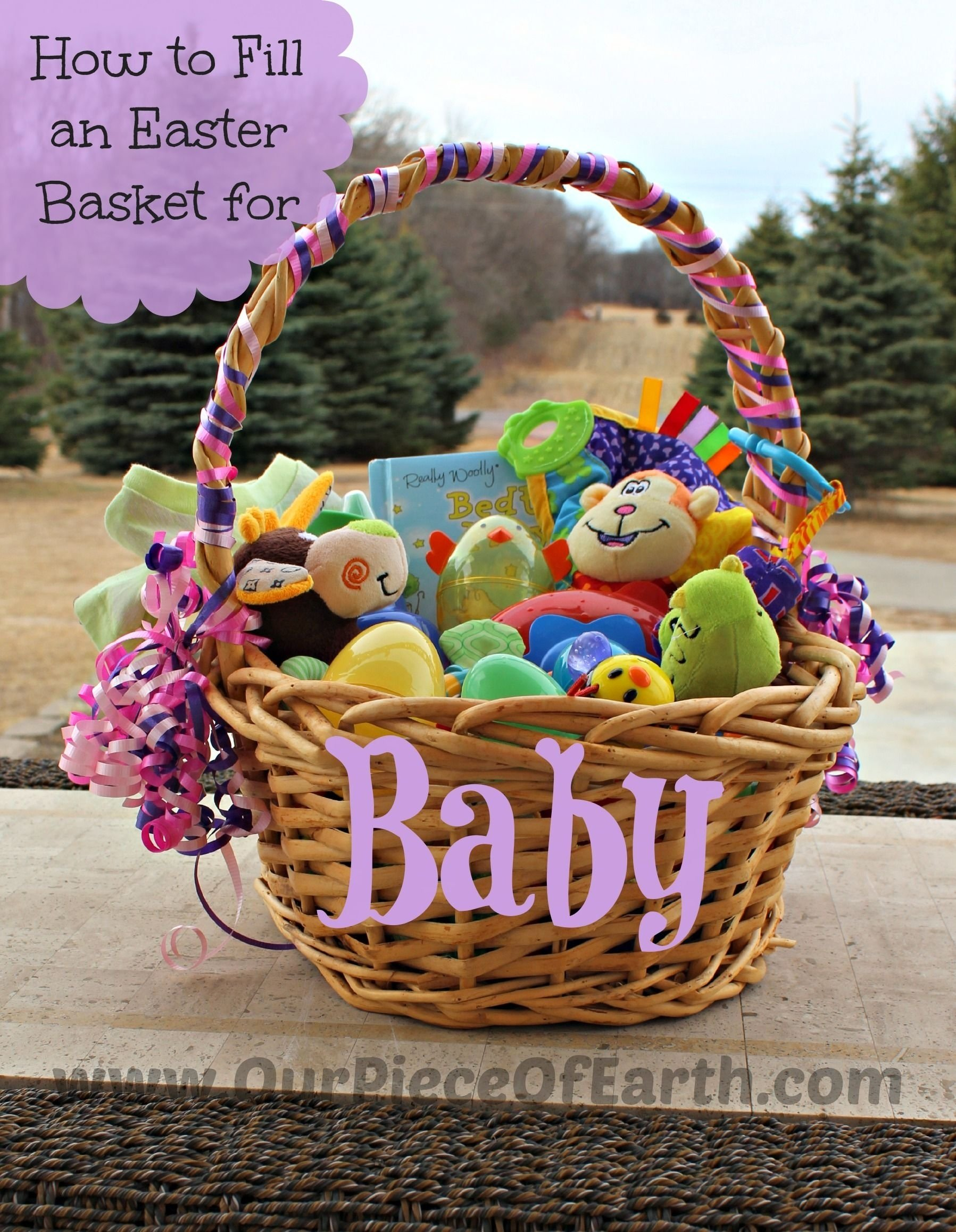 10 Cute Easter Basket Ideas For Infants what to put in babys easter basket our piece of earth blog posts 2021