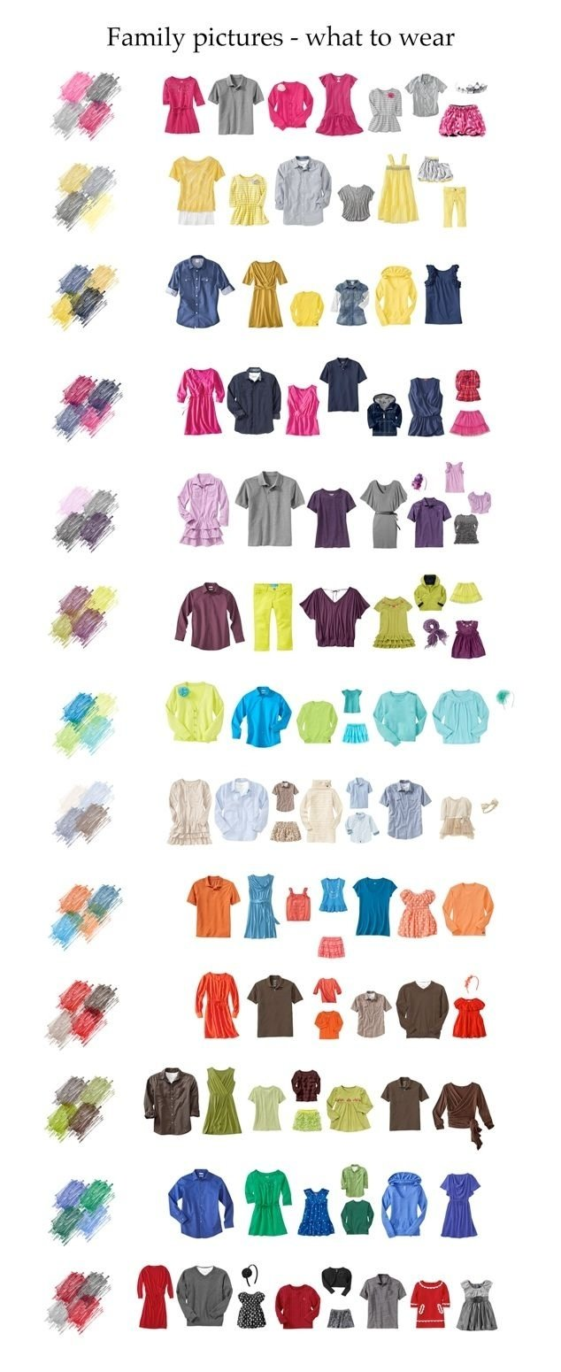 10 Lovable Color Ideas For Family Pictures what to wear in family photos http elfsacks blogs womens