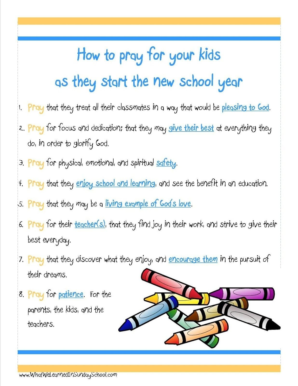 10 Unique Back To Church Sunday Ideas what we learned in sunday school new school year prayers blog 2020
