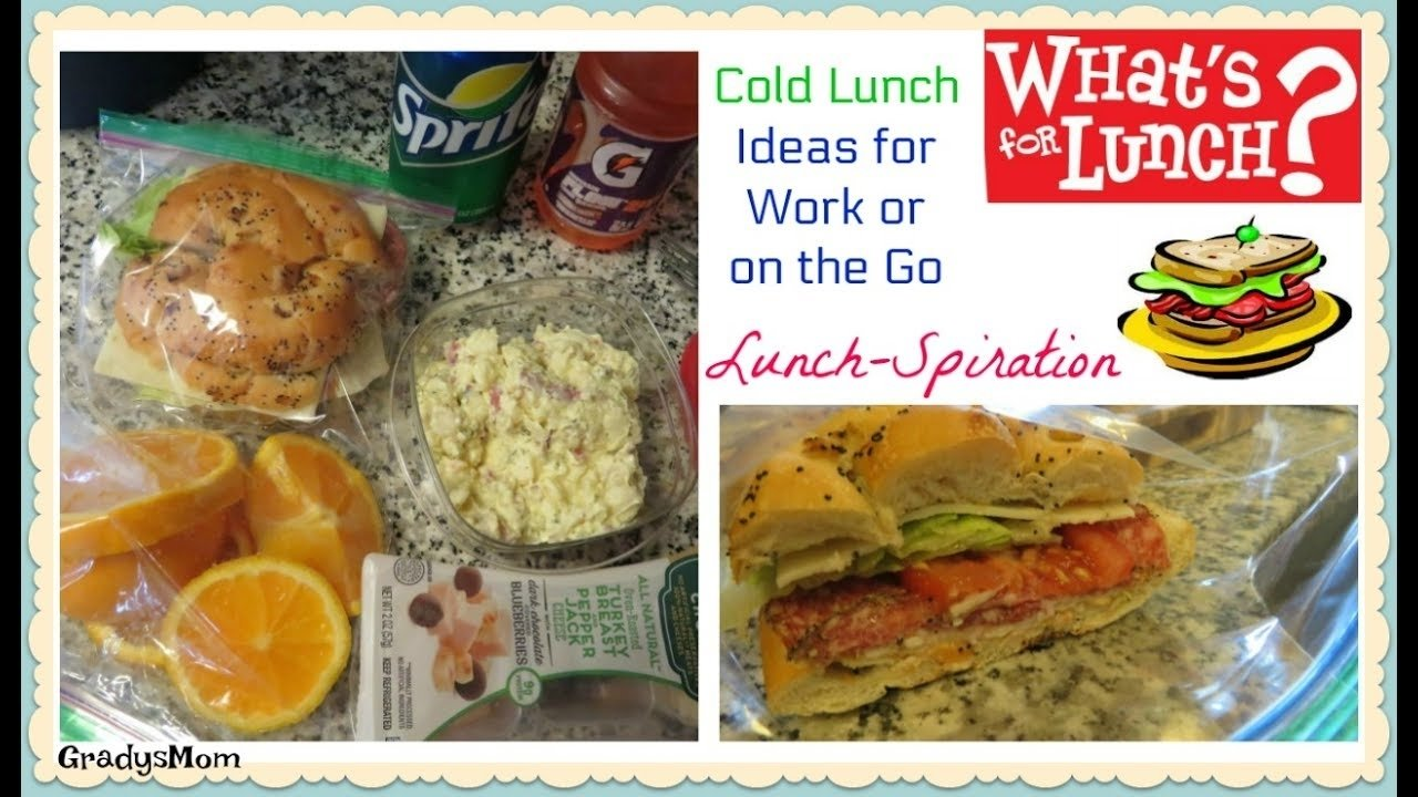what's for lunch? | cold lunch ideas on the go | gradysmom - youtube