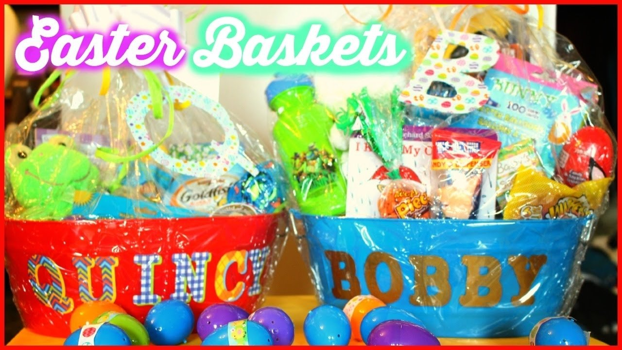 10 Famous Easter Basket Ideas For Toddlers whats in the boys easter baskets dollar tree basket ideas 2 2020