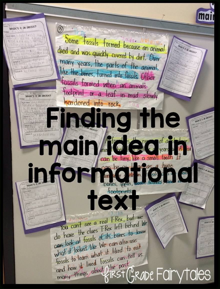 10 Gorgeous Teaching Main Idea Middle School whats the big idea main idea in informational text first grade 2020