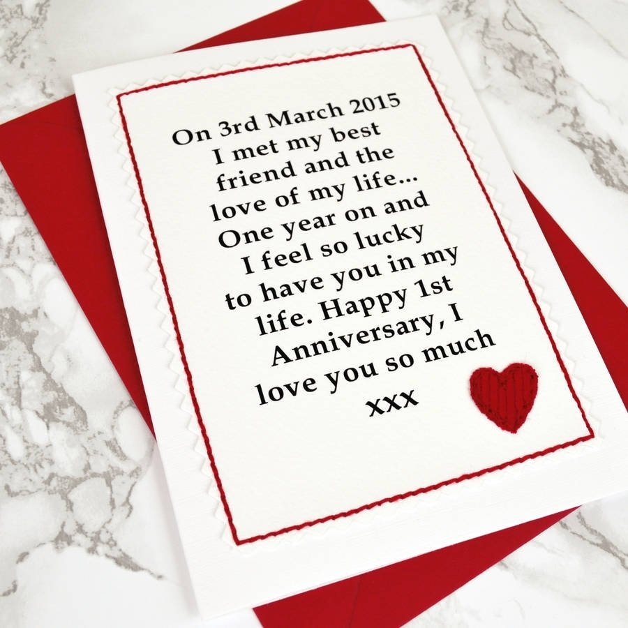 10 Lovable Anniversary Card Ideas For Him when we met personalised anniversary cardjenny arnott cards 2020