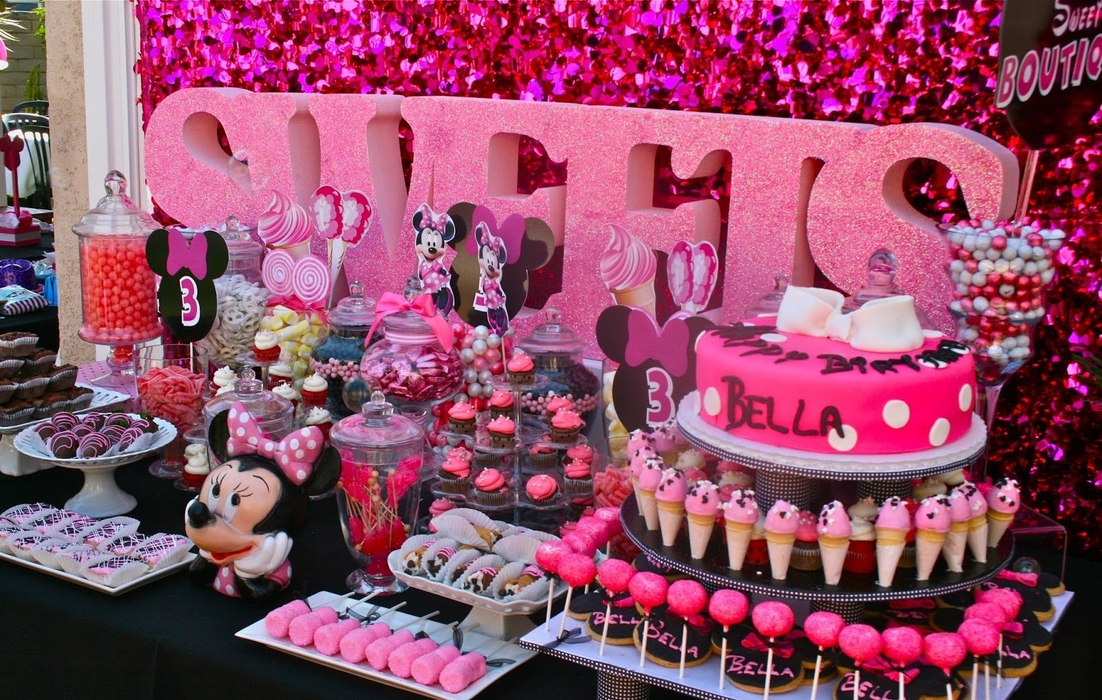 10 Wonderful Minnie Mouse Candy Bar Ideas when your mom is president of candy girl land has no self control 2021