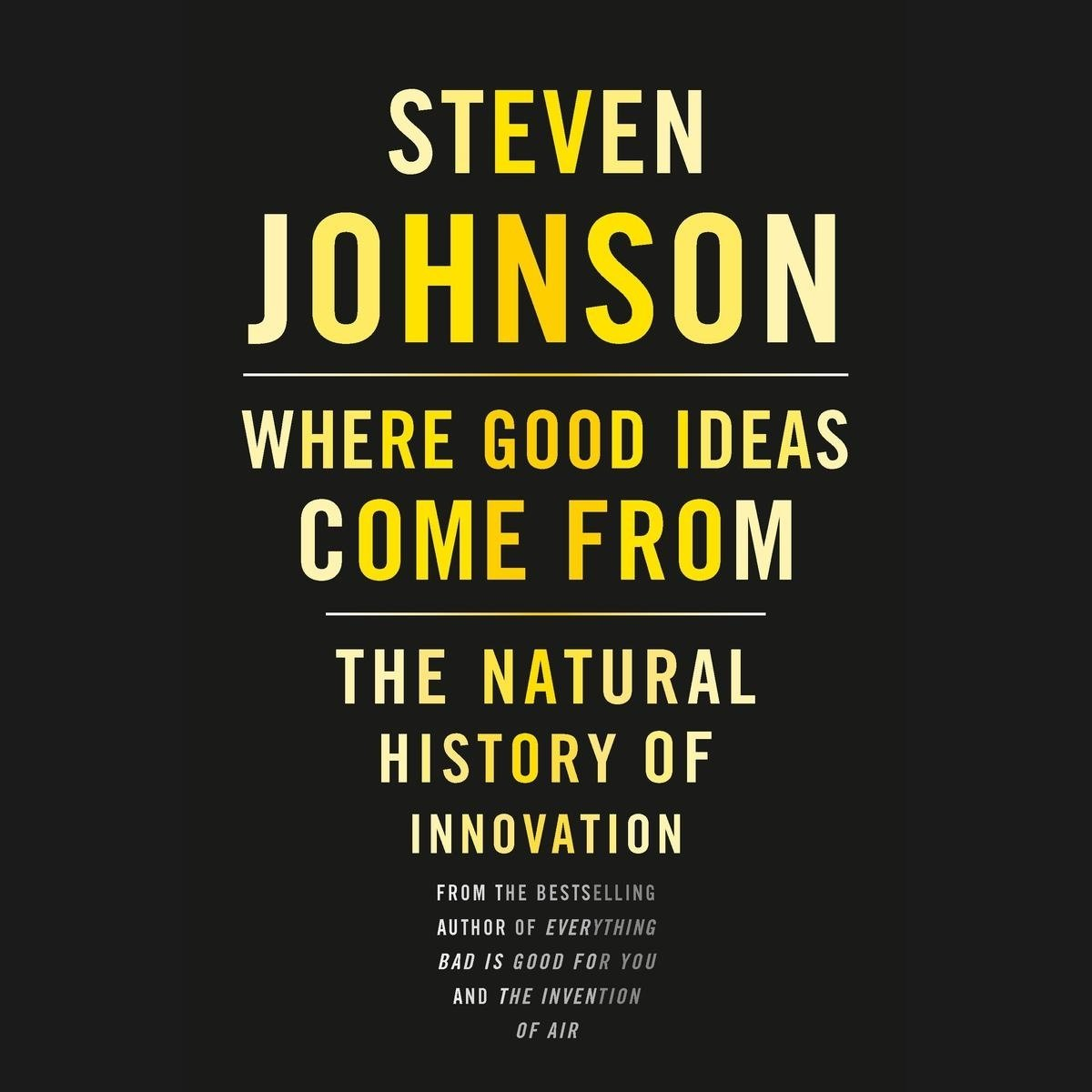 10 Lovely Where Good Ideas Come From where good ideas come from audiobooksteven johnson 2020