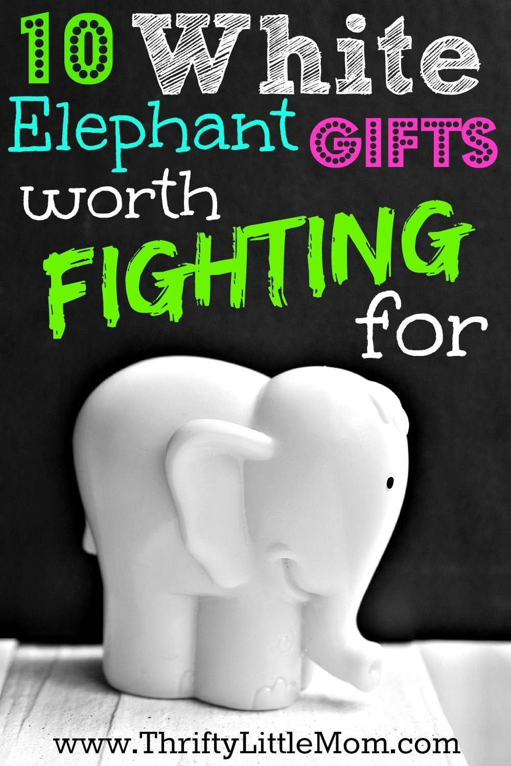 white elephant gifts worth fighting for | yankee swap ideas, white
