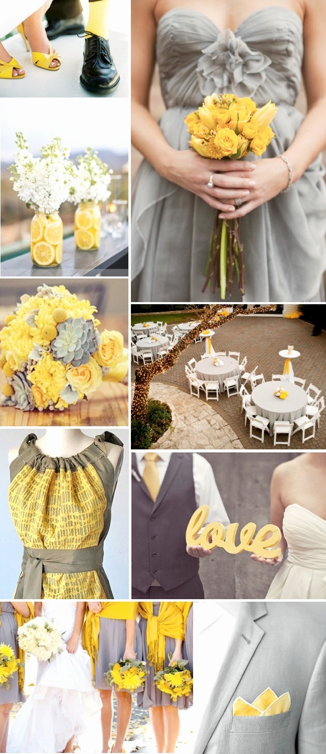 10 Cute Yellow And Gray Wedding Ideas %name