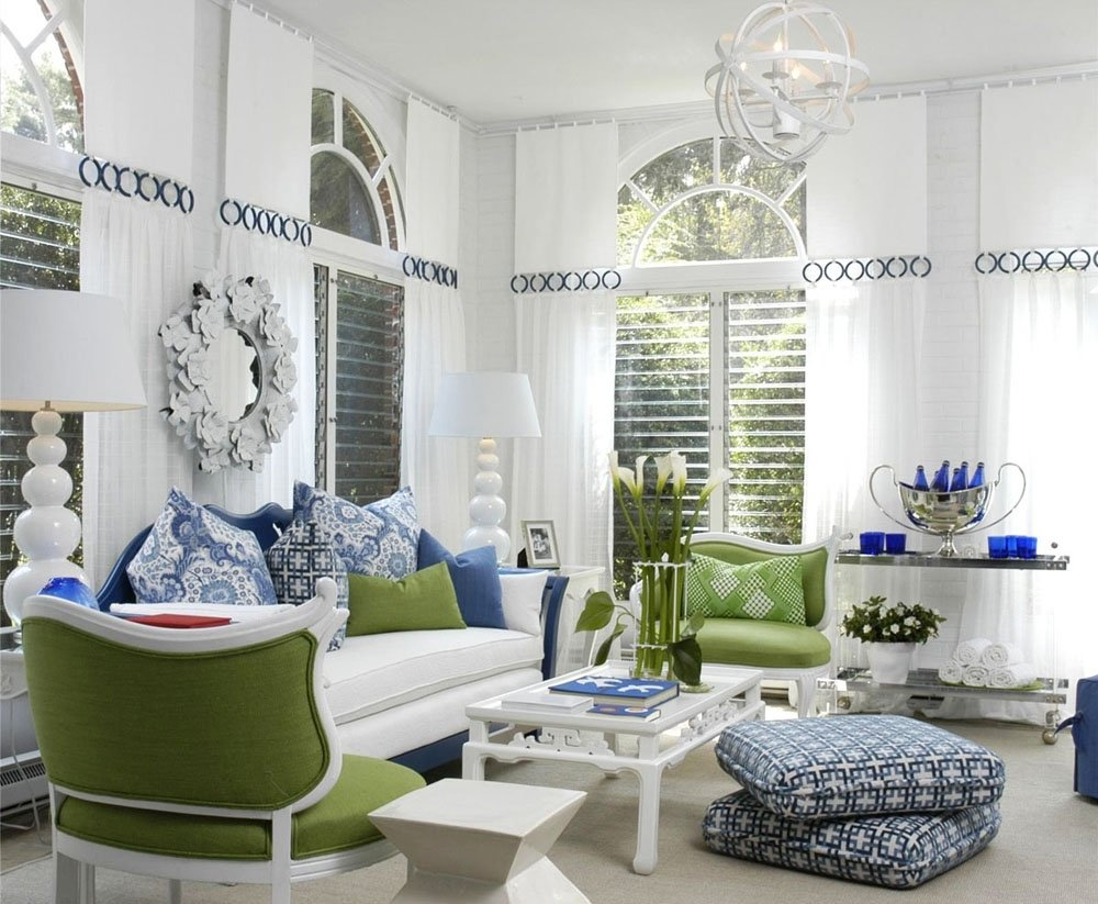 10 Stunning Blue And White Living Room Ideas white living room with blue green accents pictures photos and 2021