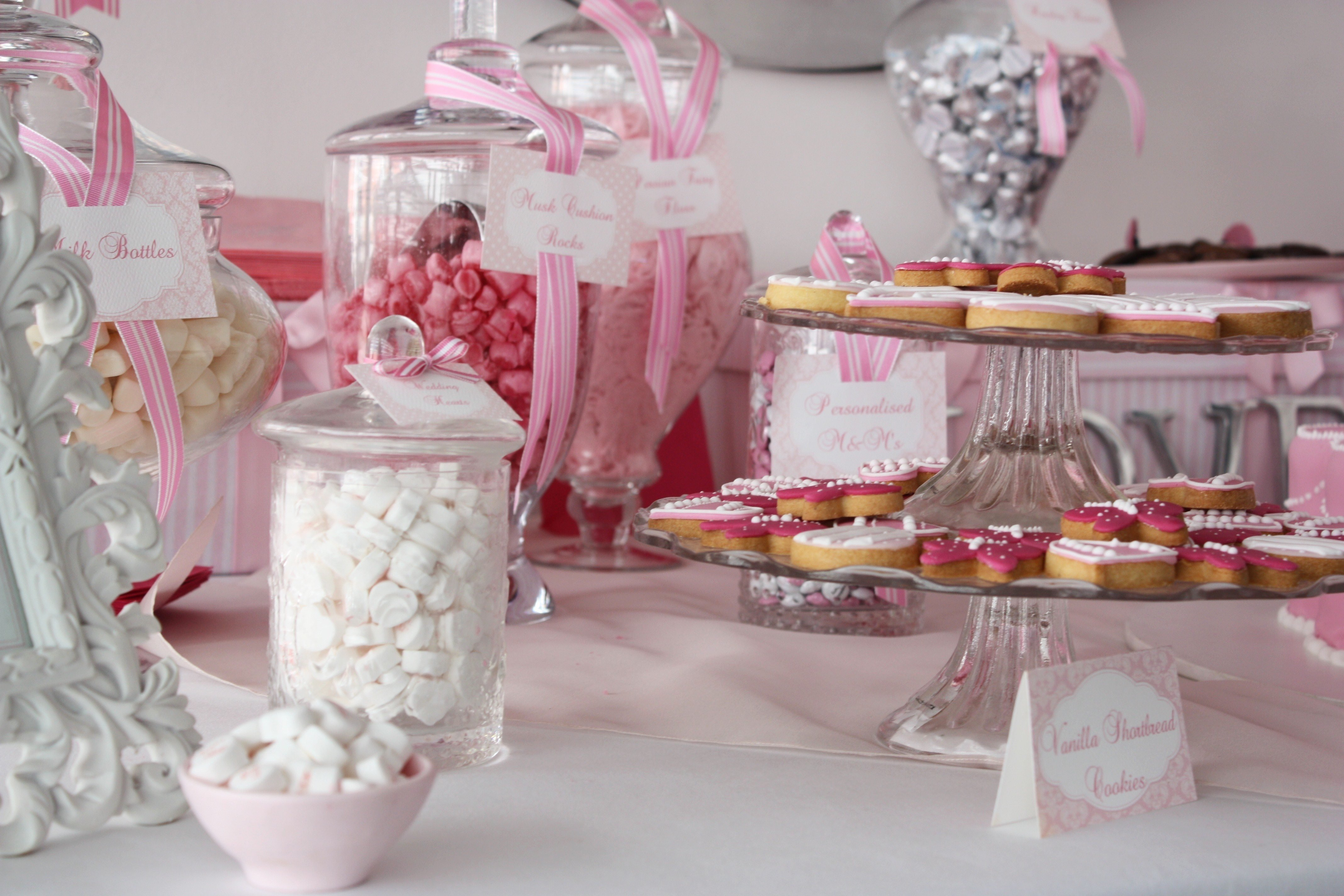 10 Perfect Candy Bar Ideas For Wedding white pink candy buffet cookie bar wedding ideas the sweetest occasion 2020