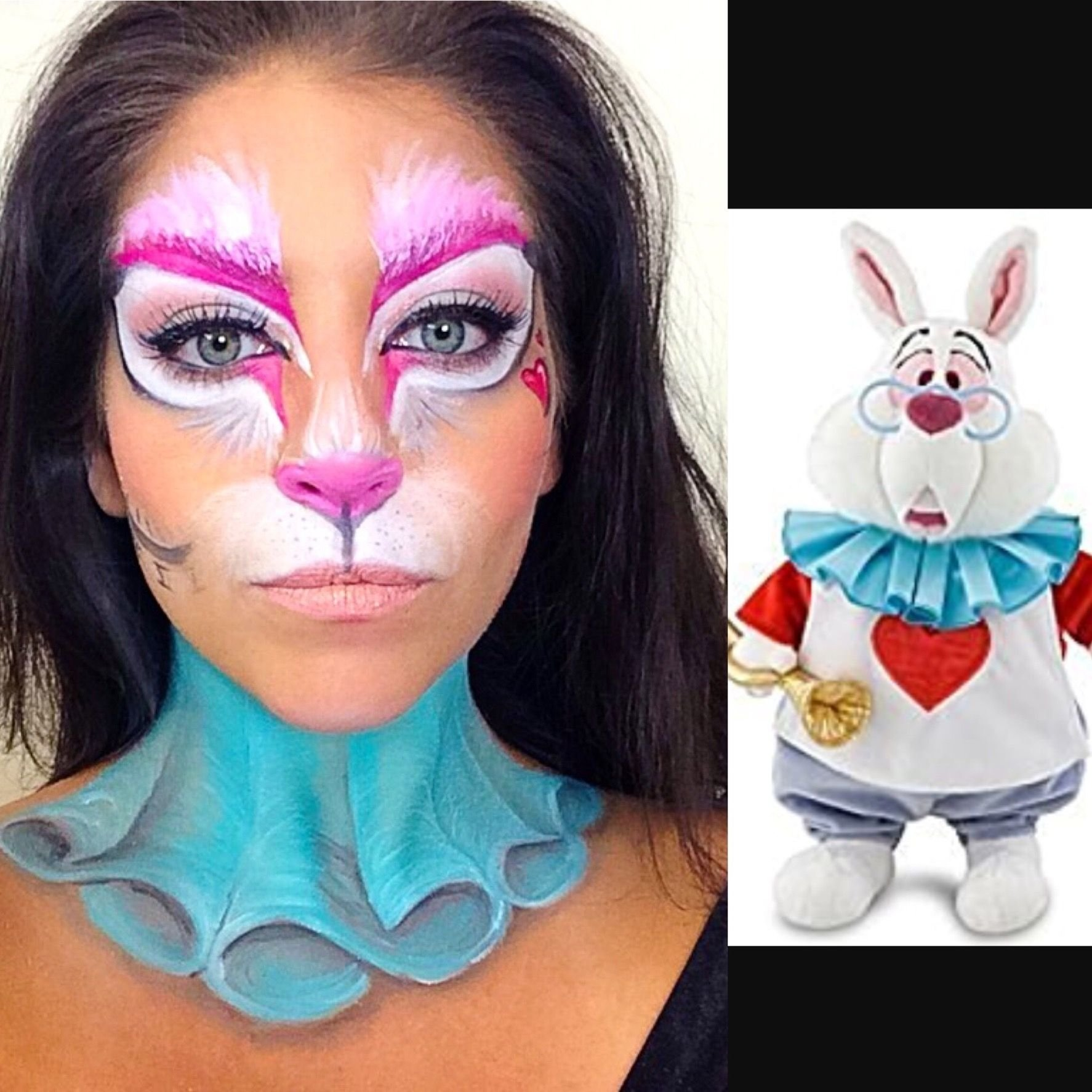 10 Great Alice In Wonderland Makeup Ideas white rabbit fron alice in wonderland makeupalyssa deltorre 2020