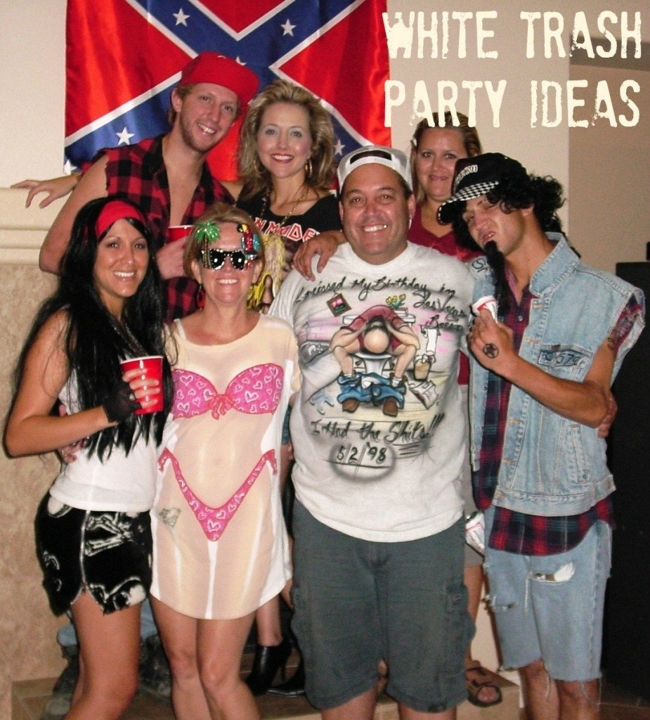 white trash backyard bash: white trash party ideas for your big