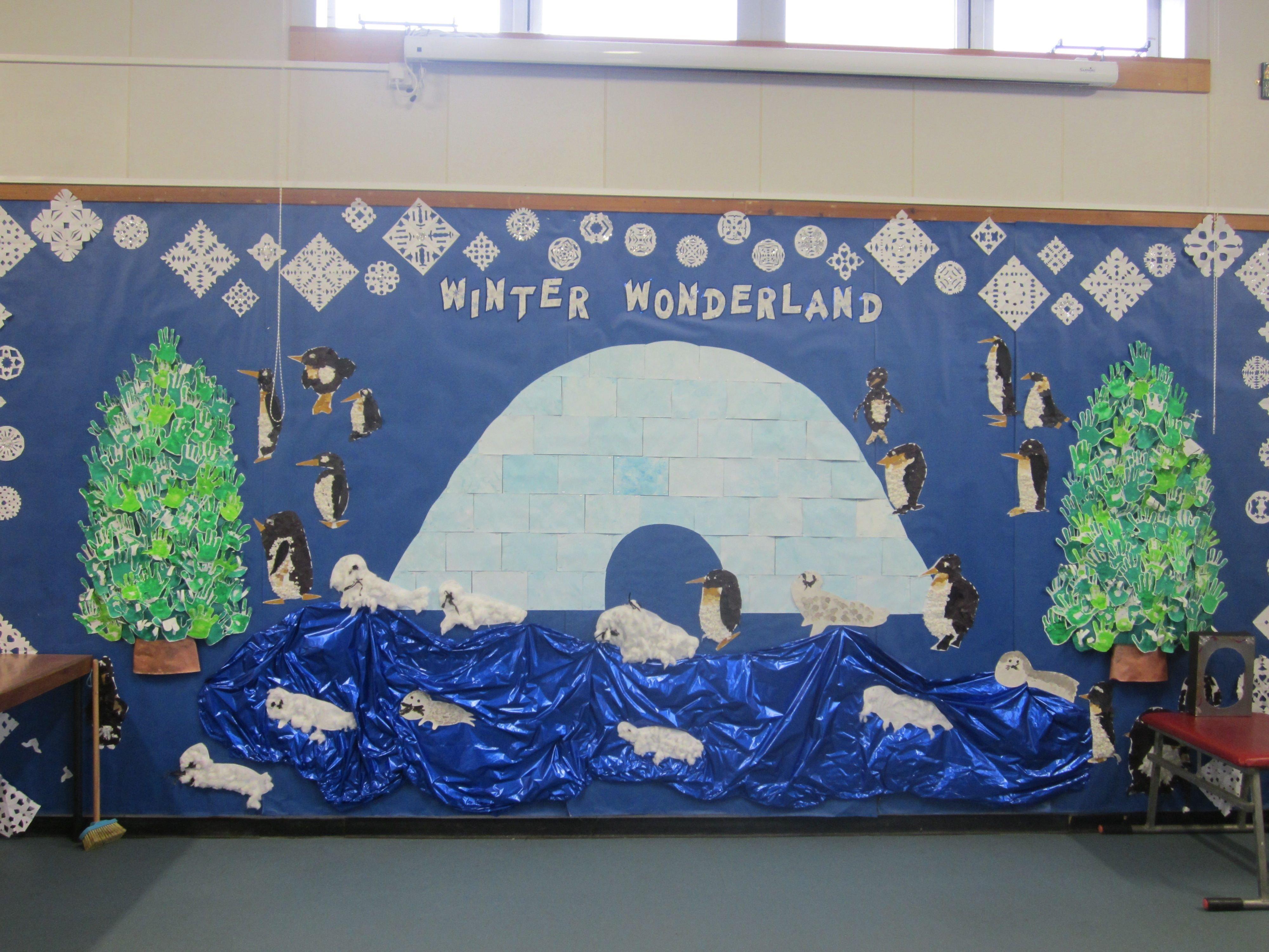 10 Gorgeous Winter Wonderland Bulletin Board Ideas whole school winter wonderland board for the hall winter 2021