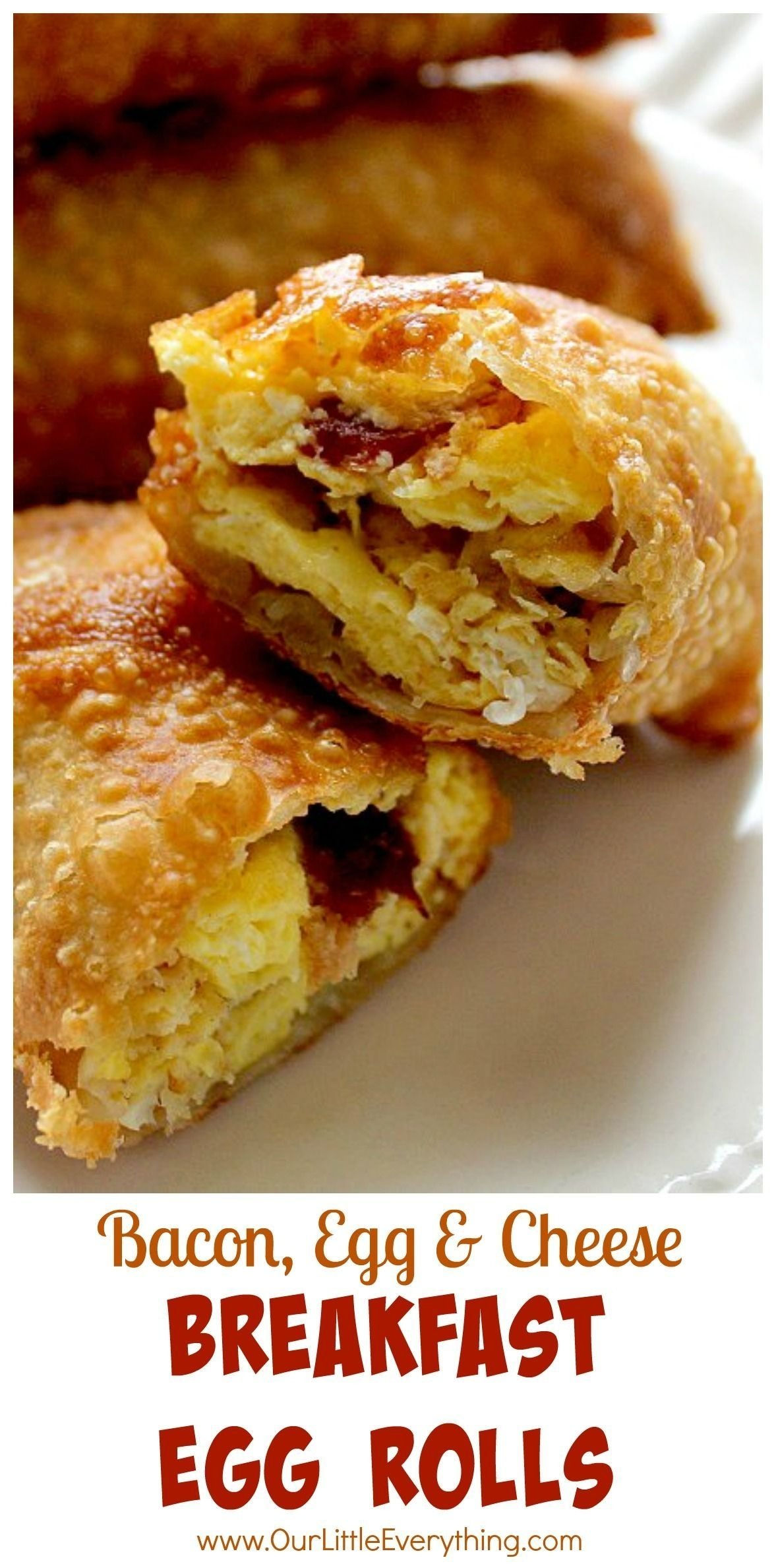 10 Lovely Egg Roll Wrapper Recipe Ideas why didnt i think of this sooner bacon egg and cheese stuffed 2021