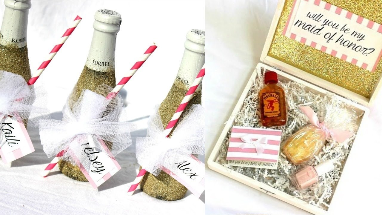 10 Great Will You Be My Bridesmaid Ideas will you be my bridesmaid diy gift ideas becomingbristow youtube 2021
