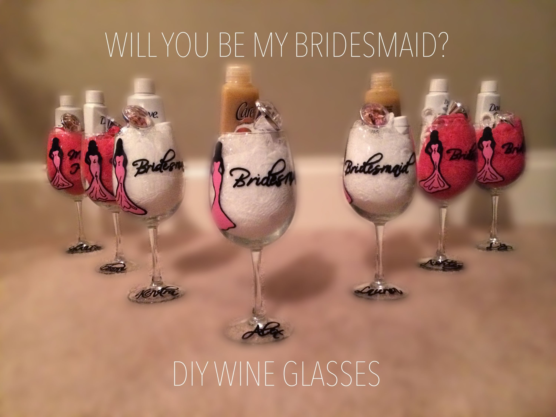 10 Wonderful Diy Will You Be My Bridesmaid Ideas will you be my bridesmaid glass projects pinterest 2020
