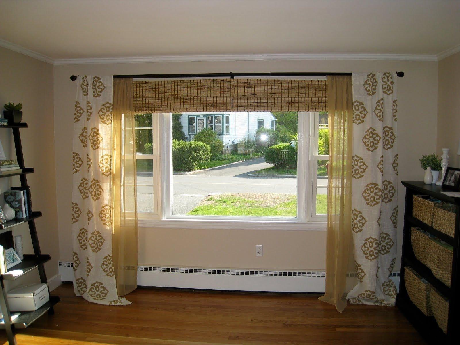 10 Famous Curtain Ideas For Large Windows window ideas for living room curtains round 3 windows 4 2020