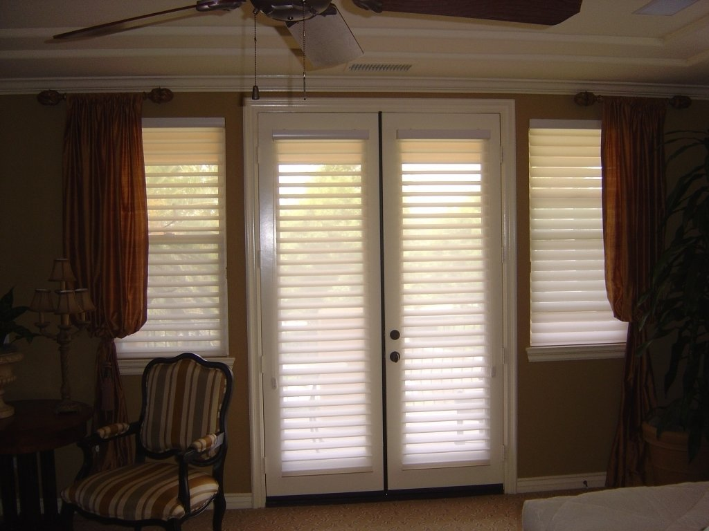 10 Stylish Curtain Ideas For French Doors window treatment ideas for doors 3 blind mice