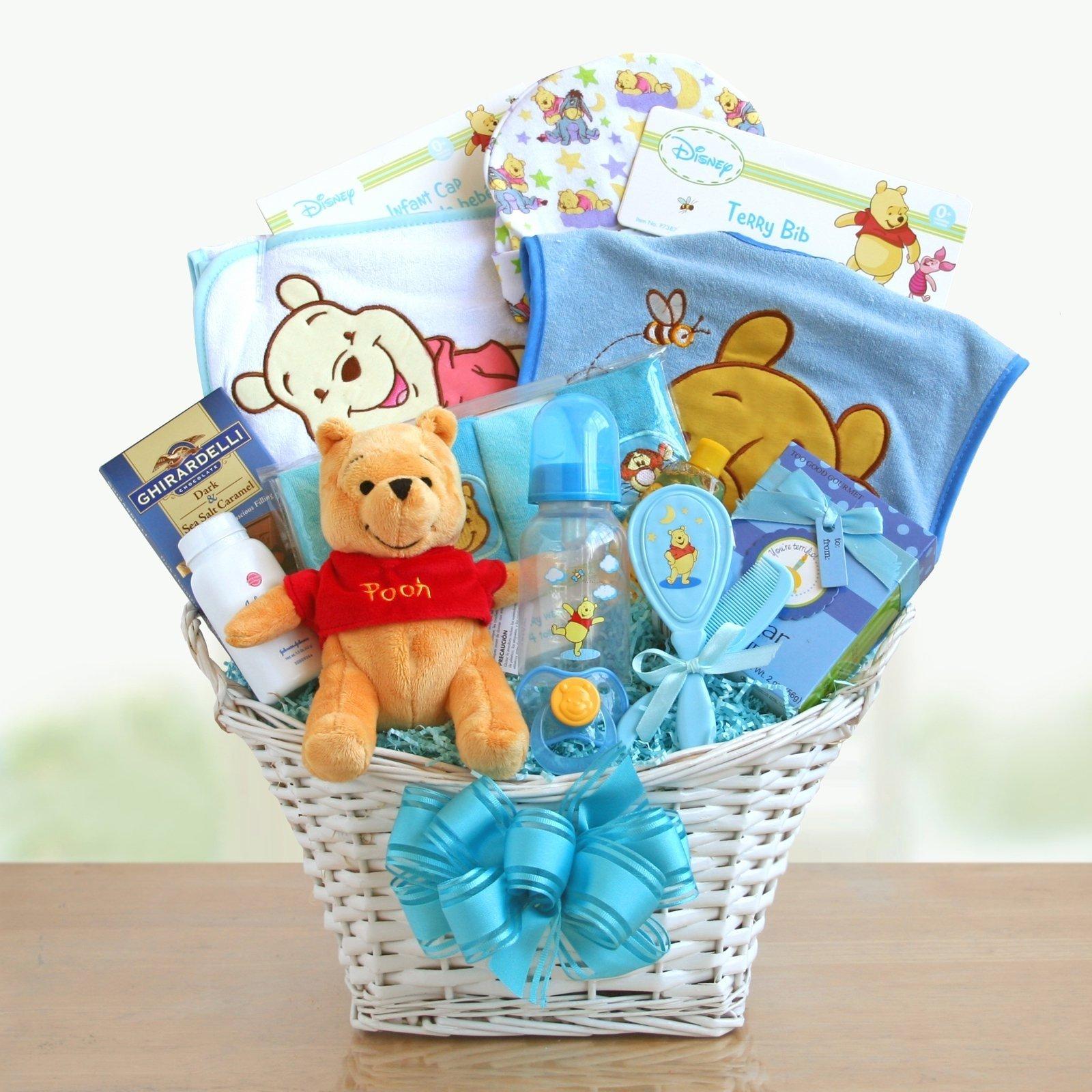 10 Most Popular Baby Boy Gift Basket Ideas winnie the pooh baby boy gift basket hayneedle 2020