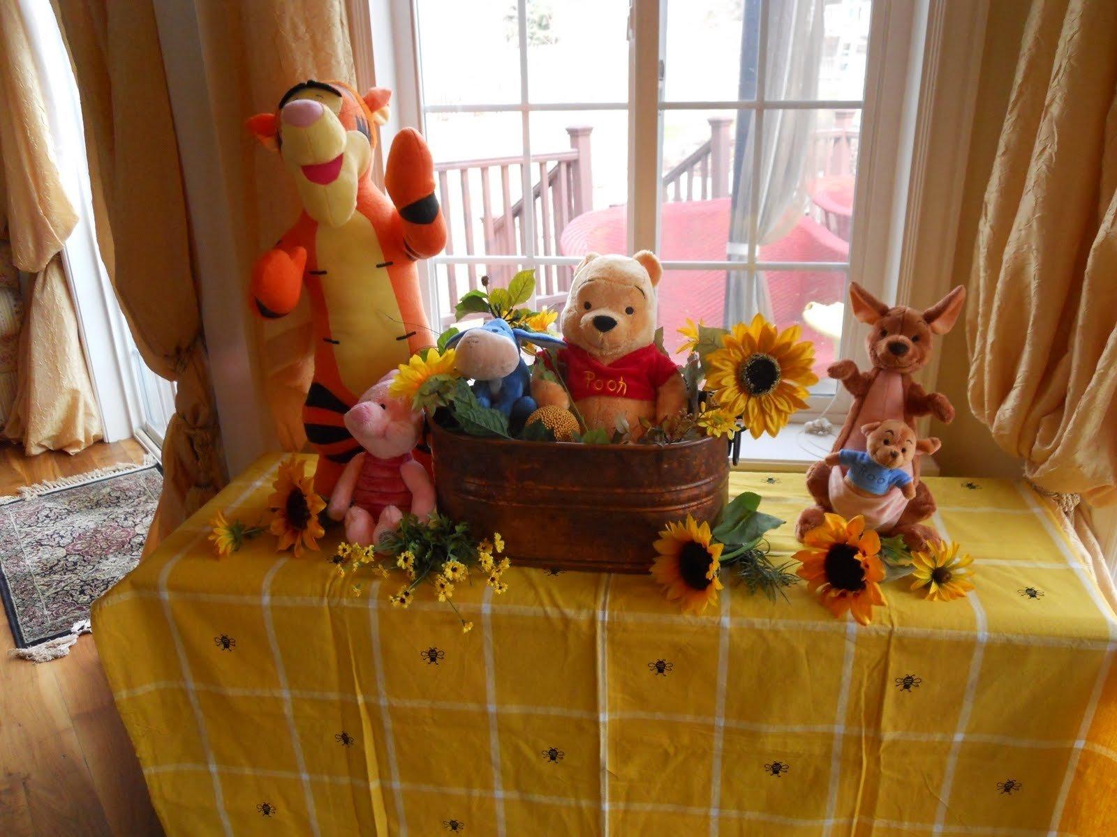 10 Stylish Winnie The Pooh Birthday Ideas winnie the pooh baby shower decor baby shower ideas gallery 2021