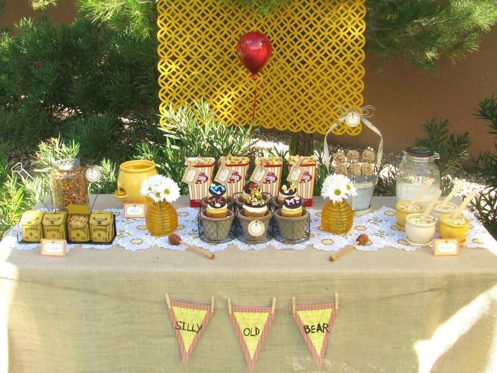 10 Wonderful Classic Winnie The Pooh Baby Shower Ideas winnie the pooh baby shower ideas pinkducky baby shower 2 2020