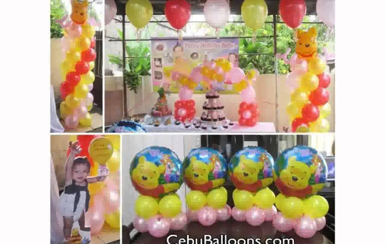 10 Stylish Winnie The Pooh Birthday Ideas winnie the pooh birthday decorations youtube 2 2021