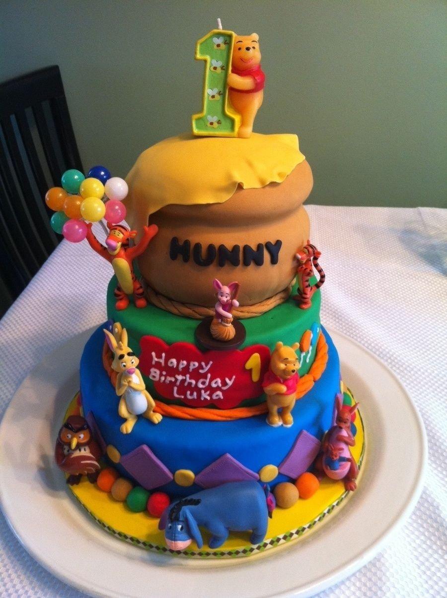 10 Stylish Winnie The Pooh Birthday Ideas First Cake Khumos Bday